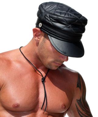 ...черная кожаная кепка, головной убор, заказать кепку, недорогая кепка...